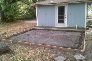 Full View of Frame For Concrete Pad