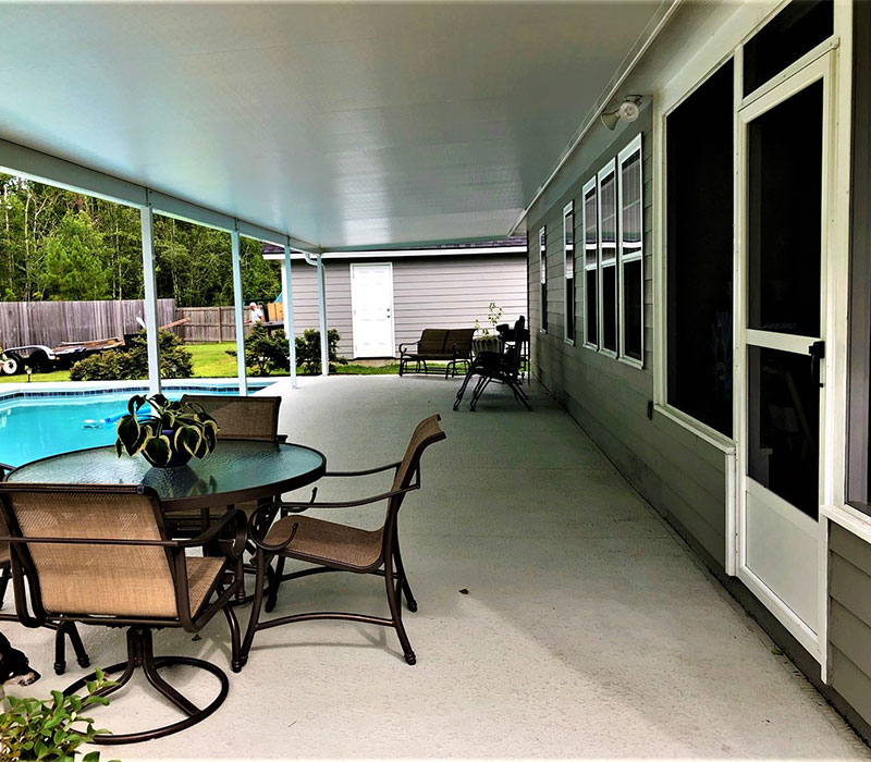 Residential Patio with Aluminum Roof Systems